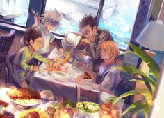 Gon, Killua, Leorio and Kurapika   Hunter X Hunter