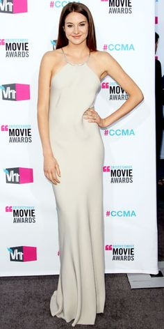 Woodley looked simply stunning in a silk Calvin Klein Collection tank dress at the Critics' Choice Movie Awards.