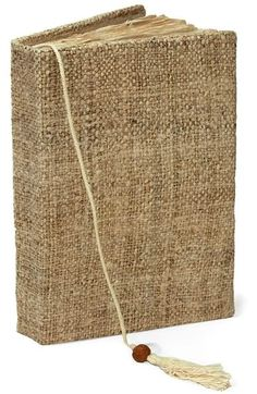 Kelambu natural handmade hemp journal from Nepal // use the thick pages to attach photos