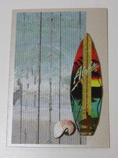 Handmade Greeting Card Unisex Surfboard Seaside by FabulousFuss on Etsy Handmade Greetings, Greeting Cards Handmade, Handmade Gifts, Surfboard, Seaside, Unisex, Unique Jewelry, Etsy, Vintage