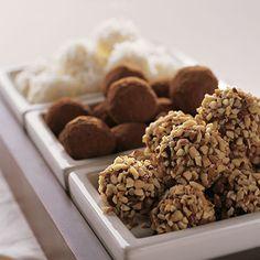 White Chocolate TrufflesYield: 30 truffles..by Gharadelli