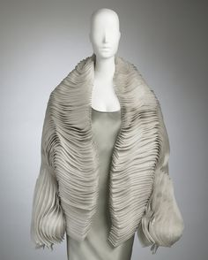 Accordian Silk Jacket Maurizio Galante for CoutureLab Haute couture. Organza silk, hand-threaded secured with hidden silicon inserts.