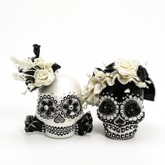 Rosy Black & White Skull Day of Dead Wedding Cake Topper , I saw this product on TV and have already lost 24 pounds! http://weightpage222.com