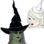 Free Witch Hat Pattern! Fabric.com Exclusive Free HotPatterns Bad Witch Good Witch Hat and Fascinator Pattern Download