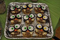 Owl Peanut Butter Cakes