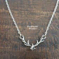 Deer Antler Rack Necklace by Gunpowder Woman for the Country Hunting Girl