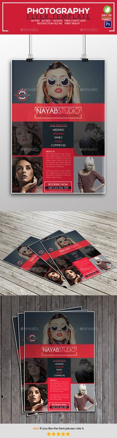 Photography Flyer Template 04 — Photoshop PSD #fashion #poster • Available here → https://graphicriver.net/item/photography-flyer-template-04/19853592?ref=pxcr