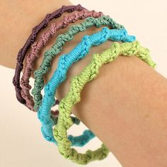 Ravelry: Twisted Chain Bangle pattern by June Gilbank