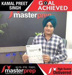 Sharing the success story of another MasterPrep student which has not only mastered the language but also got higher band in IELTS. #MasterPrep is committed to help you clear English Proficiency Tests with better scores. www.masterprep.in