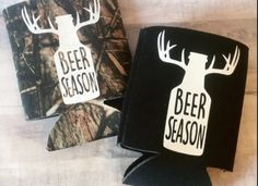 Beer Season Can Cooler Have a guy in your life that loves beer & hunting. These can coolers are decorated with heat transfer vinyl Cooler color: Black or Camo Image colors: White Vinyl Crafts, Vinyl Projects, Diy Projects To Try, Circuit Crafts, Craft Show Ideas, Cricut Creations, Cricut Vinyl, Vinyl Designs, Silhouette Projects