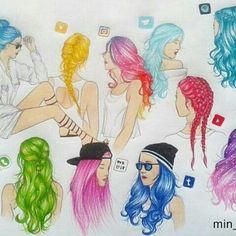 Social Media Hipster Girls