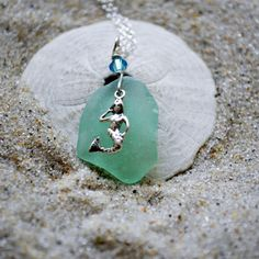 Mermaid Seaglass Necklace  Mermaid Jewelry  by ShatteredSmooth, $25.00
