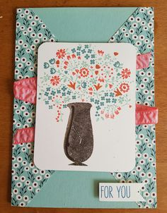 """For You card. Made with stampinup stampset, stempelset: """"Thankful Life""""."""