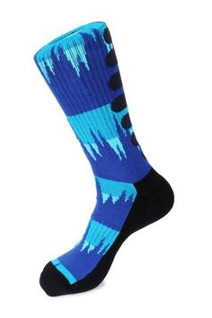 Mens athletic low cut Ankle sock green and blue cactus Short Comfort Sock
