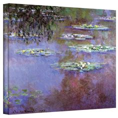 Art Wall ''Sea Roses II'' by Claude Monet Painting Print Canvas