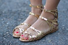 beautiful gold bohemian chic summer sandals