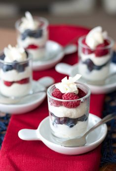 White Chocolate Coconut Mousse Parfaits
