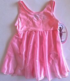 MORET Leotard Figure Skating Dress Girls Size XS 4/5 Dance Ballet Pastel Pink #JacquesMoret