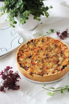Savoury Baking, Sweet And Salty, Vegetable Pizza, Quiche, Good Food, Vegetables, Eat, Breakfast, Morning Coffee
