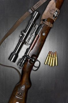 Mauser 98000 Rifle....grandpa to the 30-6 bolt action used in WW2 through Vietnam which is the father of the .308 bolt action,my rifle, and also the current sniper rifle since the Vietnam war :))