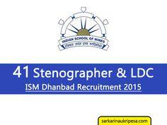 ISM Dhanbad Vacancy