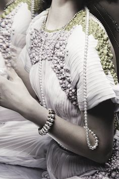 Detail of Givenchy Haute Couture Spring 2011 ph. by Giulia Noni | Vogue Russia, June 2011.