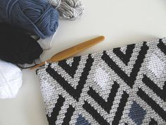Vivienne Tapestry Crochet Pattern / Crochet Bag Pattern / Modern Crochet Pattern / The Effective Pictures We Offer You About Crochet purse A quality picture. Tapestry Crochet Patterns, Modern Crochet Patterns, Crochet Designs, Modern Crochet Blanket, Crochet Pouch, Crochet Stitches, Knit Crochet, Chevron Crochet, Crochet Crafts