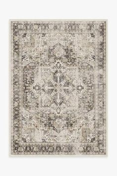 Cambria Abalone Rug – Ruggable Coral Rug, Black White Rug, Machine Washable Rugs, Farmhouse Rugs, Farmhouse Decor, Classic Rugs, Earthy Color Palette, Distressed Texture, Grey Rugs