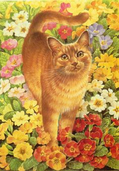 Lesley Anne Ivory Cat Artwork BUY ONE Get One FREE! Original Vintage Cat Art…