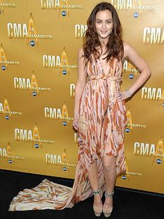 Leighton Meester at the 44th Annual CMA Awards, wearing Pucci.