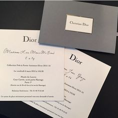 Dior fashion show invite