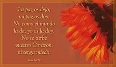 Juan 14:27 Tarjetas