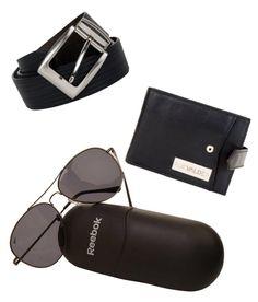 8c6f25e603382d Reebok-Men-Sunglass   Le Valde-Men - Black Leather Wallet   Le Valde Men -  Black Leather Belt Combo at Off!