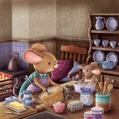 I'm pretty sure this is how mice bake. (by James Newman Gray)