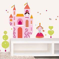 Muursticker Prinses en Kasteel | Kids Decoshop