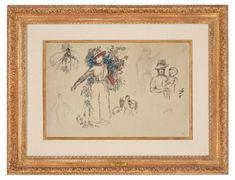 Pierre-Auguste Renoir (1841-1919) | Etudes: Femme au jardin | late 19th Century, Drawings & Watercolors | Christie's Pierre Auguste Renoir, Impressionist Art, Art For Sale, Vintage World Maps, Artsy, Watercolor, Ink, Gallery, Creative
