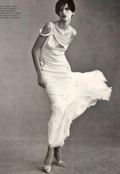 Vogue Italia February 1996, Spring Mood Stella Tennant & Guinevere van Seenus by Steven Meisel