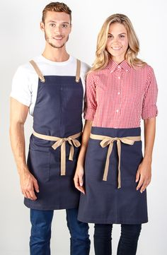 100% cotton canvas apron in store / Embroidery logo / Uniforms / Coffee shop / Activ Embroidery Designs / activembroiderydesigns.com.au