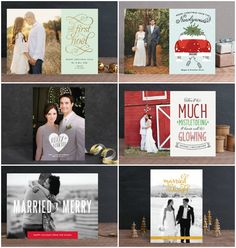 Just Married? Celebrate your newly wedded bliss with a personalized holiday card for your friends and family. When I was looking for cute couple cards after my wedding, I didn't find much. I'm so glad that Minted collaborated with talented designers to craft clever cards for newlyweds. These are not cheesy–they're classic! Our First Noel …