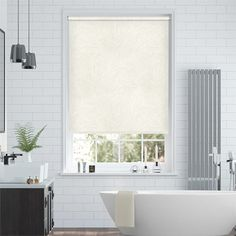 A creamy wonder, this Waves roller blind adds both lightness and a homely feel to your decor. It has a sophisticated textured pattern that's perfect for the modern home.   In addition, it's a hard worker and will earn its keep. The PVC fabric is 100% waterproof and capable of dealing with all sorts of environments. You can even put it right next to the shower! Curtains Vs Blinds, Wave Cream, Waterproof Blinds, Bleu Cyan, Pvc Fabric, Stores, Simple Style, House, Sevilla