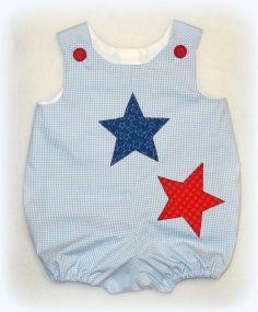 162c5fc5148 Boys Patriotic Bubble Romper Baby Boy July 4th by NansFancyPants