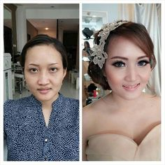 Pre-wedding make up for Miss M by La Rose Bridal Specialist #prewedding #preweddingmakeup #mua #muasemarang #bridal #semarangbridal #larosebridal
