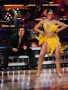 Season 9 champions Mya and Dmitry Chaplin dance salsa on Dancing With the Stars.