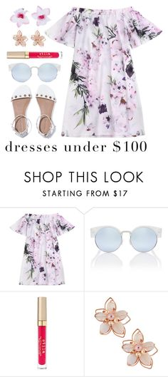 """dress under 100"" by lovedreamfashion ❤ liked on Polyvore featuring Stila, NAKAMOL, Accessorize, dress, floreal and under100"