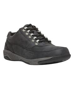Black Miller Leather Low Hiking Boot - Men