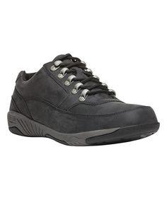 Black Miller Leather Low Hiking Boot - Men