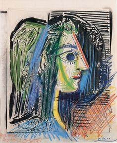 profil de femme (Jacqueline), 1969 Pablo Picasso