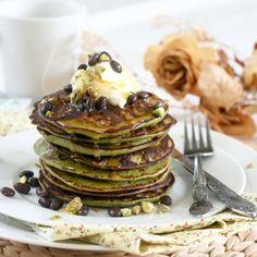 Matcha Green Tea Coconut Pancakes