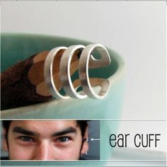 Ear Cuff earring for men - Handmade Male Ear Cartilage Cuff Jewelry - Non Pierced Ear Cuff (102A) $22