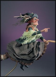 Charlotte Chuzzlewog who lives in a Bog 1:12th miniature scale by Creager Studios